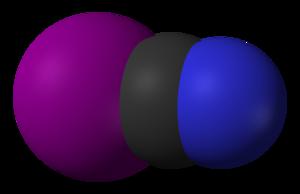 Cyanogen iodide - Image: Cyanogen iodide 3D vd W