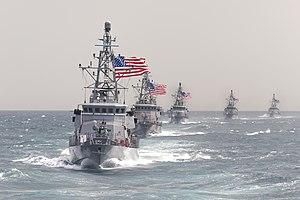 Cyclone-class patrol ship - Image: Cyclone class patrol ships in the Persian Gulf in March 2015