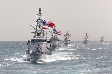 Cyclone-class patrol ships in the Persian Gulf