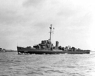 USS Fiske (DE-143) - Image: DE 143 Fiske