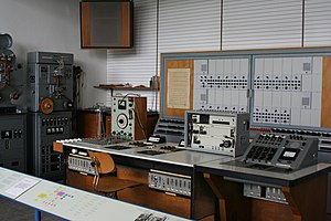 Studio monitor - Siemens Recording Studio ca. 1956 as seen in the Deutsches Museum in Munich Germany.