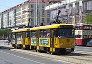 Die Tatra-Einheiten sind seit den 60er Jahren im Einsatz – Die dreiteiligen Großzüge sind aber schon aus dem Stadtbild verschwunden