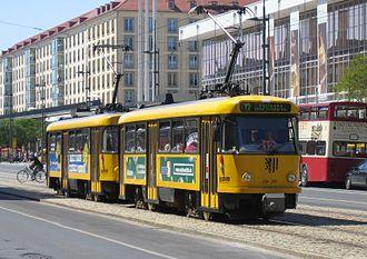 Tatra T4 - T4D in Dresden