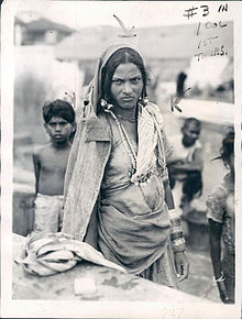 Dalit or Untouchable Woman of Bombay (Mumbai) according to Indian Caste System - 1942.jpg
