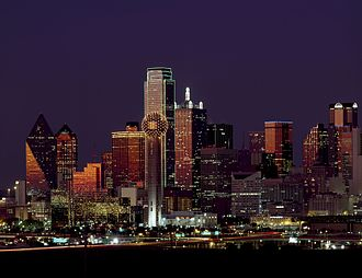 Downtown Dallas - View of Downtown Dallas at night