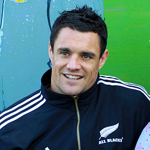 New Zeland rugby union player Dan Carter and t...