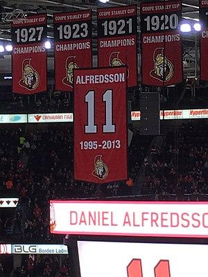Daniel Alfredsson - Daniel Alfredsson's Jersey Retirement Banner