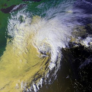 Tropical Storm Danielle (1992) Atlantic tropical storm in 1992