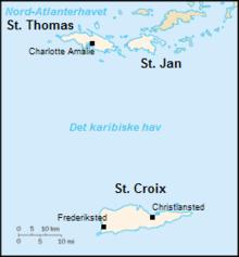 dansk vestindiske øer kort Dansk Vestindien   Wikipedia, den frie encyklopædi