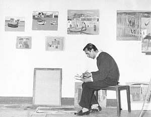 David McClure (artist) - David McClure, Casteldaccia, Sicily 1956.