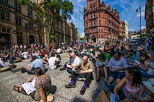 City of Literature - Dawn of the Unread Flashmob in Nottingham.