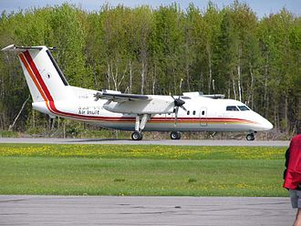Air Inuit - A DeHavilland DHC-8-102 belonging to Air Inuit at Cornwall, Ontario, May 2005