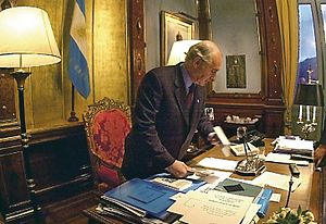 1998–2002 Argentine great depression - Amid rioting, President Fernando de la Rua resigned on 21 December 2001.