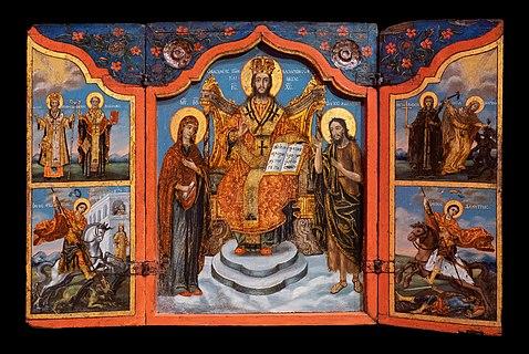 Deesis with Saints, triptych 18-19 cent