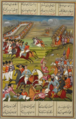 Defeat of the Russian general Bawalkunik by 'Abbas Mīrzā. A Qajar-era miniature.png