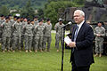 Defense.gov News Photo 100720-D-7203C-013 - Secretary of Defense Robert M. Gates speaks to U.S. and Korean troops from the 1st Heavy Brigade Combat Team and 210 Fires Brigade at Camp Casey.jpg