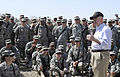 Defense.gov News Photo 110407-F-DQ383-006 - Secretary of Defense Robert M. Gates talks with soldiers of the 2 1 Advise and Assist Brigade during a visit to Camp Victory Iraq on April 7.jpg