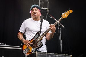 Sergio Vega (bassist) - Vega performing with Deftones at Rock im Park, June 2016
