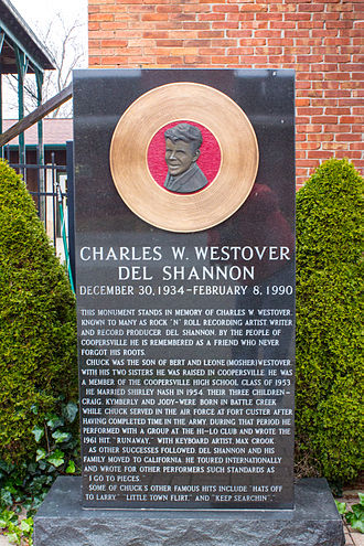Del Shannon - Del Shannon Memorial in Coopersville, Michigan