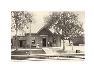 Delmar, New York - Albany and Susquehanna Railroad's Delmar Station, 1907