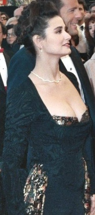 Demi Moore - Moore at the Academy Awards in 1989 with Bruce Willis