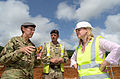 Development Secretary meets the military helping to build Kerry Town Ebola treatment centre (15578517956).jpg