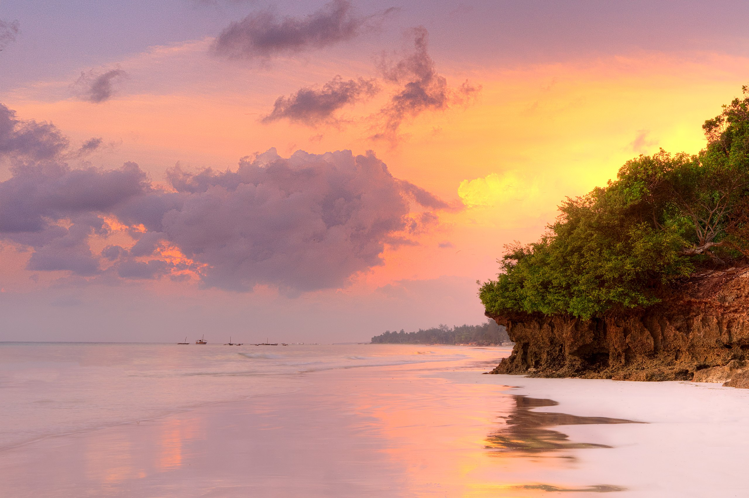 Sunrise at Diani Beach