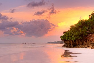 Kilifi County - Image: Diani Beach Sunrise Kenya