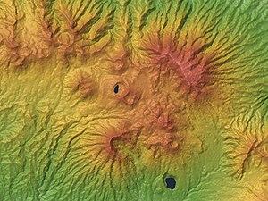 Dieng Volcanic Complex - Relief Map
