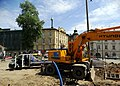 Dietla - Stradomska intersection, roadworks Kraków 2019.jpg