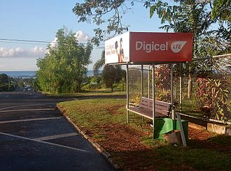 Digicel - An outdoor Digicel ad on a bus shelter in Tonga.