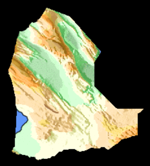 Dikhil Region - A topographic map of Dikhil Region