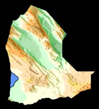 Dikhil Region - A topographic map of Dikhil Region