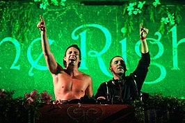 Dimitri Vegas & Like Mike tijdens TomorrowWorld 2013
