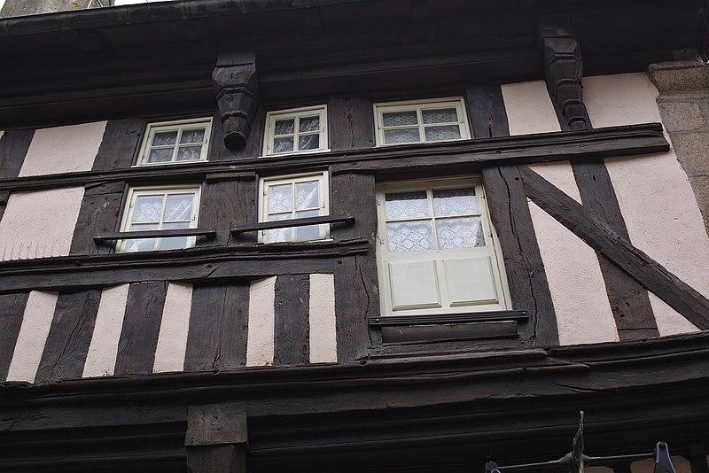 File:Dinan - 14 rue de la Cordonnerie 20130216-02.jpg Исторические памятники Динана, достопримечательности Динана, фотографии Динана