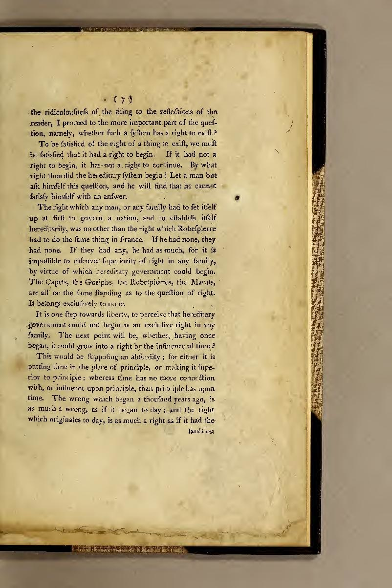 Thomas Paine – Dissertation on First Principles of Government() – Know-It-All to Know-Nothing