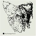Distribution of dry sclerophyll forest in Tasmania.jpg