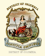 Blason du district, datant de 1871.