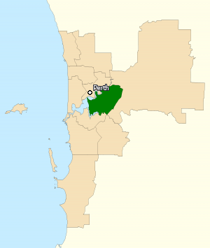 Division of Swan - Division of Swan in Western Australia, as of the 2016 federal election.
