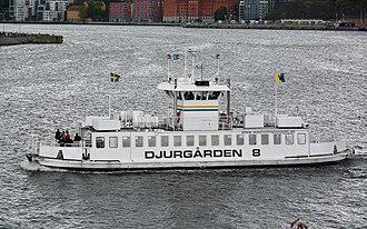 Djurgården ferry - Image: Djurgården 8