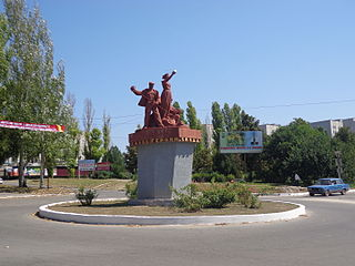 Dniprorudne City in Zaporizhzhia Oblast, Ukraine