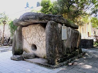 History of Abkhazia - One of the dolmens from Eshera (now at the Sukhumi Museum)
