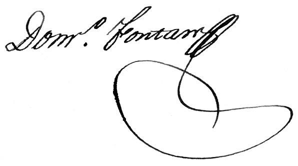 Domingo Fontán Secretario de la Diputación Provincial de Galicia 13 de abril de 1822