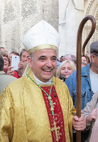 Dominique Lebrun - Lebrun during his installation as Archbishop of Rouen, on 11 October 2015