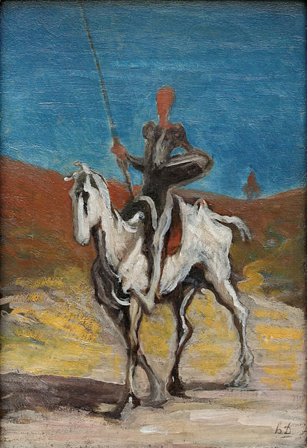 Don Quixote by Honoré Daumier (1868)