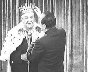 Don Wilson (announcer) - Don Wilson is honored by Jack Benny on the occasion of his 27th anniversary in broadcasting, in January 1961