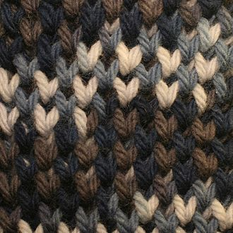 Brioche knitting - Two-color Honeycomb Brioche in a variegated yarn