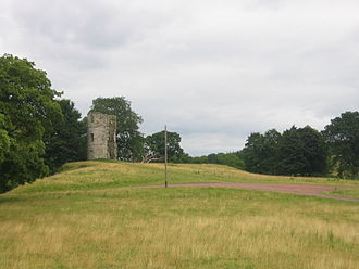 Douglas Castle - The remains of the 17th-century castle, seen from the south-west
