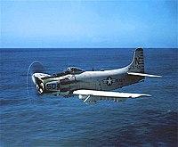 Douglas AD-6 Skyraider of VA-65 in flight in March 1958.jpg