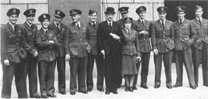 "Sir Max Aitken, 2nd Baronet - Wing Commander Aitken, fourth from left, with other members of ""The Few"", September 1942"